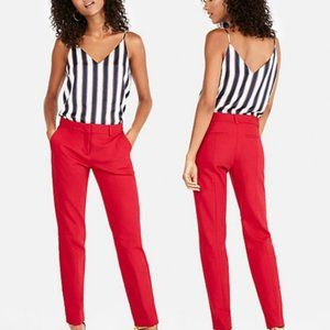 Express Mid Rise Ankle Columnist Red Pants | NWT
